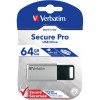 VERBATIM STORE 'N' GO USB Encrypted 64GB Silver ORDER IN ONLY
