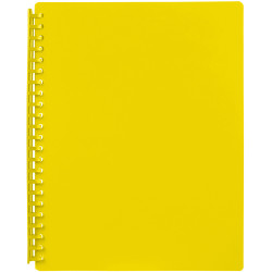 DISPLAY BOOK A4 YELLOW REFILLABLE