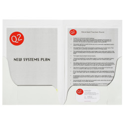 MARBIG PRESENTATION FOLDERS Pro Series Double Pocket A4 Gloss PACK 10 limited st