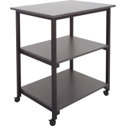 UTILITY TROLLEY IRONSTONE TOPS ONLY 800MM W X 600MM D X 900MM H 3 TIER WITH CAST
