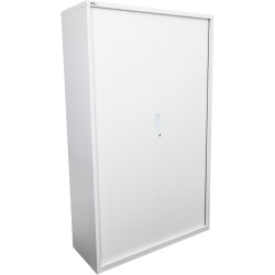 GO TAMBOUR DOOR CUPBOARD H1980xW1200xD470mm SHELVES NOT INCLUDED WHITE CHINA
