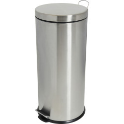 COMPASS STAINLESS STEEL PEDAL BIN 30 litre